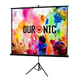 Duronic TPS86/43 (Black) Projector Screen For | School | Theatre | Cinema | Home | Tripod Projector Screen - 86