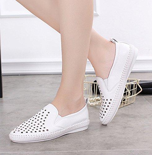 Aisun Confortevole Mocassini Sneakers Dello on Bianca Appartamento Stella Slip Donna BqZpd4wvBn