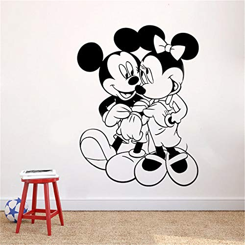 Wandaufkleber Schlafzimmer Mickey Minnie Mouse Wandkunst Aufkleber Aufkleber Mickey Und Minnie Mouse Wandaufkleber Diy Design Dekoration Vinyl Art Removeable Poster Wandbild
