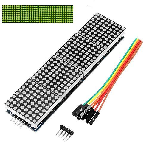 Nishci MAX7219 Dot Matrix DIY Kit Anzeigemodul kompatibel für Arduino Raspberry, 4 In 1 Led-array