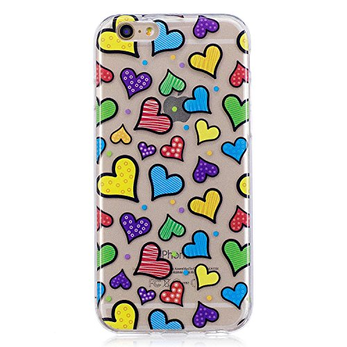 iPhone 6 Hülle,iPhone 6S Hülle, MSK TPU Silikon Schutz Handy Hülle Handytasche HandyHülle Etui Schale Schutzhülle Case Cover Tasche Etui für Apple iPhone 6 / iPhone 6S - Panda Liebe