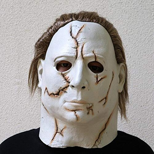 Halloween Carniaval Character Scary Movie Theme Face Mask Movie Cosplay Latex Michael Myers Mask Full Face Head Mask,as The Picture