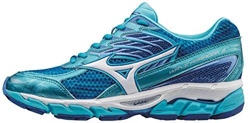 Mizuno Wave Paradox WOS Scarpe Running Donna, Blu Atoll/White/Strong Blue, 38 EU