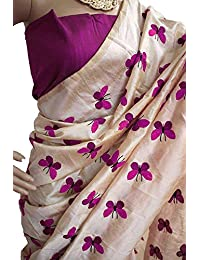Onlinehub Women's Sarees Cotton Silk Material Sarees For Women With 1 Blouse Piece(Priyaka Mor Cotton Silk )