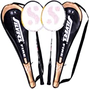 Silver's Unisex Adult Fire Badminton Racquet, 2-piece With Cover - Multicolor