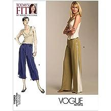 The McCall Pattern Company Vogue Patterns V1050 - Patrón de costura para pantalones de mujer (todas las tallas)