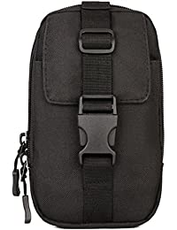 Buyworld Men Durable Nylon Fanny Waist Pack Belt Hip Purse Pouch Assault Accessory Mobile Phone Bag