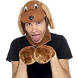 Kostüm-Set Hund mit Mütze und Pfoten braun Mops Verkleidung Hund Hundemütze
