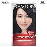 Revlon Top Speed Hair Color Woman, Brownish Black 68