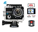 4k Action Cam Actioncam 1080P Wasserdichte Helmkamera Actionkamera Action Sport Kamera Wifi 16MP 2.0...
