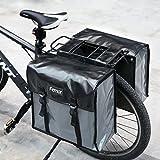 FEMOR Doppelte Fahrradtasche Fahrrad Outdoor hinten Sitz Bag Rücken Schulter wasserdichte Handtasche - Wasserdichte Schwarz 20 L
