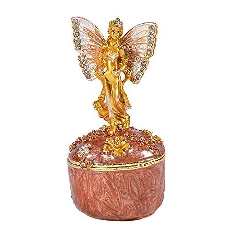 Micg Fée Ange Papillon Cristaux Boîte souvenir à bijoux Pilulier figurine