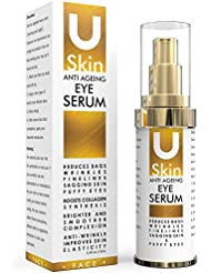 PREMIUM Anti Ageing Eye Serum for Dark Circles & Puffiness - The Best Anti Wrinkle Eye Serum - Clinical Strength - Reduces Wrinkles, Bags, Saggy Skin