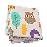 Souarts Stoffpakete DIY Baumwolltuch Baum Eule Muster
