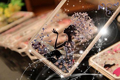 iPhone 5S Hülle,iPhone 5S Case [Scratch-Resistant],iPhone 5S Hülle, ISAKEN iPhone 5S Ultra Slim Perfect Fit Kreativ Design Liquid Fließen Flüssig Schwimmend Love Herz der Liebe Bling Luxus Shiny Glanz Fee Fairy #14