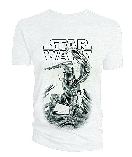 Star-Wars-Camiseta-Manga-corta-Hombre