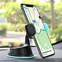 OAHU® Dual Purpose 360-Degree Rotating Car Mobile Phone Mount Holder Stand for Windscreen, Dashboard & AC Vent…