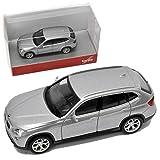 alles-meine.de GmbH BMW X1 E84 SUV Glacier Silber 1. Generation 2009-2015 H0 1/87 Herpa Modell Auto mit individiuellem Wunschkennzeichen