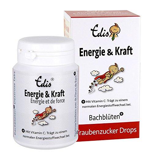Edis Energie & Kraft Traubenzucker Tabs Nr. 25 (75g) Sanddorn/Orange, Schweizer Bachblüten, in Faltschachtel