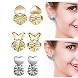 Bomach 3paia Magic BAX filtro ipoallergenico orecchini di sicurezza orecchino sostegno ascensori regolabile posteriore orecchini gioielli accessori per donne e ragazze (2argentato dorato + 1)
