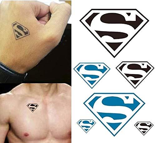 Temporäre Körperkunst Entfernbare Tattoo Aufkleber Superman - HC1010 Sticker Tattoo Temporary Tattoo - FashionLife