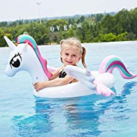 UR MAX BEAUTY Giant Inflatable Unicorn Pool Float, Fun Beach Floaties, Swim Party Toys, Summer Pool Raft Lounge for Kids