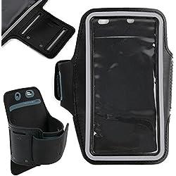 DURAGADGET Brazalete Deportivo Negro De Neopreno para Smartphone Xiaomi Redmi Go, Xiaomi Redmi 7, Honor 10i - Hipoalergénico Y Antideslizante