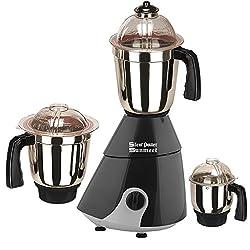 SilentPowerSunmeet Black Color 600Watts Mixer Juicer Grinder with 3 Jar (1 Large Jar, 1 Medium Jar and 1 Chuntey Jar)