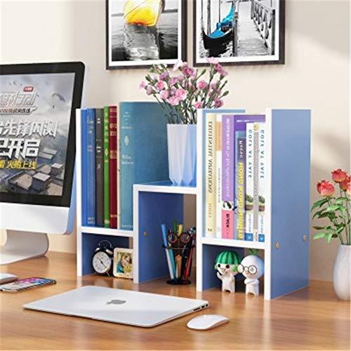 WYN Schreibtisch-Regal Book Shelf Desktop-Bücherregal Schreibtischablage Einfach Platzsparend Büro zu Hause,Blue -