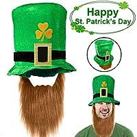 AMENON St Patricks Day Party Favors Supplies Green Shamrock Top Hat -  Velvet Leprechaun Sombrero de 94a3f9bbd59