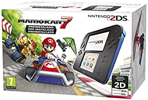 nintendo: Nintendo 2DS - Consola, Color Azul + Mario Kart 7 (Preinstalado)