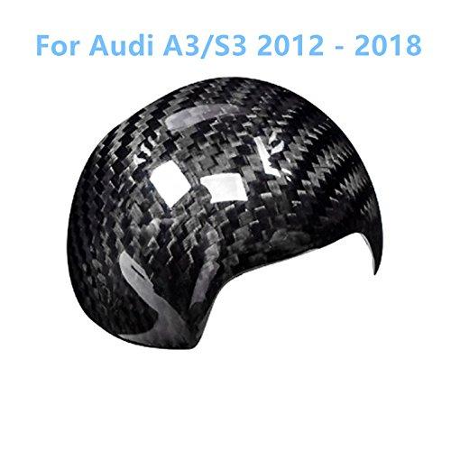 Preisvergleich Produktbild Karbonfaser Schwarz Gear Shift Knob Cover Innen Dekoration 1Stück für Auto Zubehör ada3s