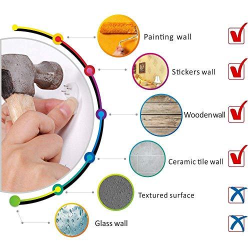 Muto Frameless Grande Orologio a Muro 3D Specchio Adesivo-2 anni di garanzia (Argento-42) - 5