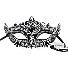 Signstek - Maschera di lusso, tagliata col laser, prodotto elegante, realizzato in metallo