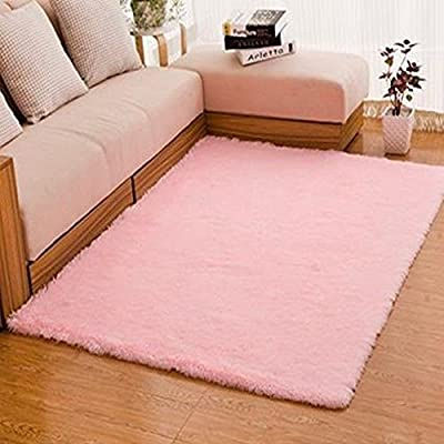 Gemini_mall® Plain Soft Shaggy Rug Area Rugs Living Room Bedroom Floor Mat Carpet produced by Gemini_mall - quick delivery from UK.