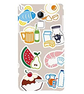 Food Graffiti 3D Hard Polycarbonate Designer Back Case Cover for Coolpad Note 3 Lite :: Coolpad Note 3 Lite Dual SIM
