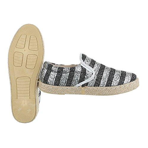 Ital-Design - Pantofole Donna Nero/Argento