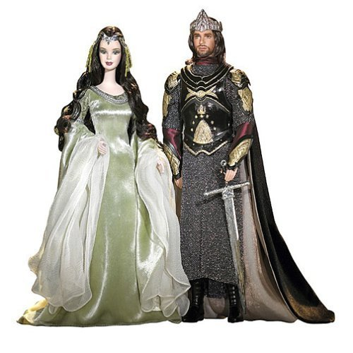 Lord of the Rings Barbie and Ken as Arwen and Aragorn by Barbie