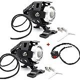 USUN 2pcs Motocycle CREE LED Faros antiniebla luz lámpara foco delantero conducción luces 125 W
