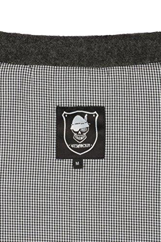 WIESNROCKER Trachtenweste für Herren in dunkel-grau I modern & rockig I Gilet mit vielen Details I hochwertige Verarbeitung I Größe M - 6