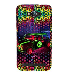 PRINTVISA Abstract Car Pattern Case Cover for Asus Zenfone Max