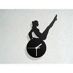 Gymnastics Figure Silhouette - Exercise Pilates Stretching Fitness - Yoga - Modern Novelty Gift - Custom Acrylic Wall Clock