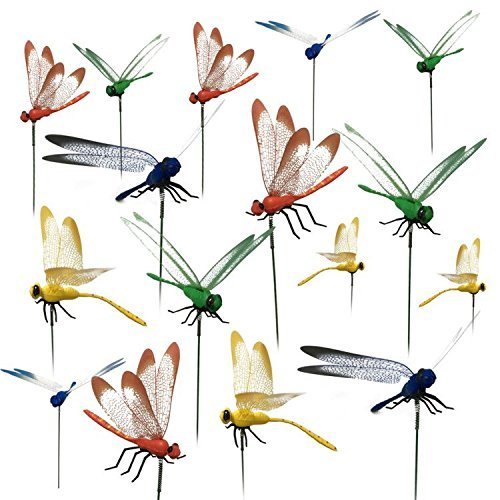 Libelle Stakes Garten Libellen Ornamente mit Stick für Outdoor Gartenpflanze Dekor Hof ()