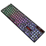BigBig Style Gaming-Tastatur LED-USB-Kabel QWERTY 7-Farben-Hintergrundbeleuchtung mit 19 Tasten beleuchtet (Color : Black)