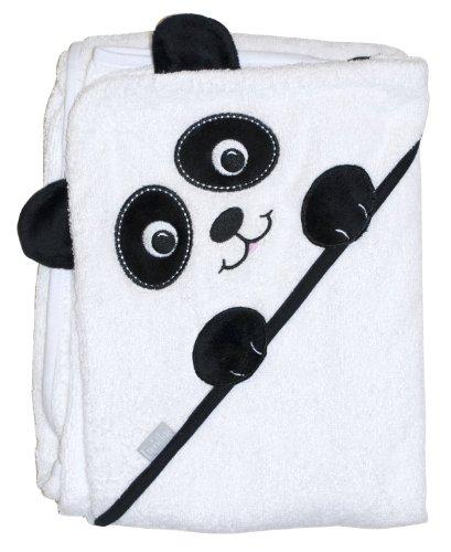 Extra Large 100x75 cm absorbant serviette à capuche, Panda par Frenchie Mini Couture