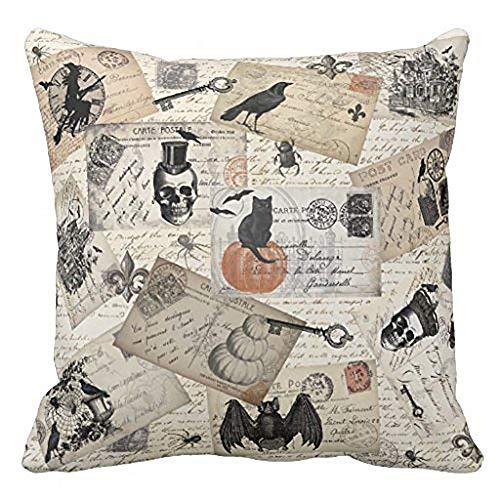 iYmitz Happy Halloween Kissenbezüge Leinen Sofa Kissenbezug Home Decor(B1,45cmx45cm)