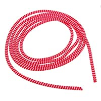 Tutoy 1.4M 3Colors Spring Winding Wire Cable Protector Organizer for Mouse Keyboard Smartphone -Red