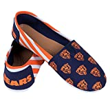 Chicago Bears Women's NFL Slip On Canvas Stripe Shoe Slippers