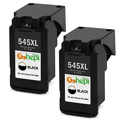 Gohepi Remanufactured Canon PG-545XL PG545 Druckerpatronen 2er-Pack Schwarz für Canon PIXMA iP2850 iP2800 MG2400 MG2450 MG2455 MG2500 MG2550 MG2900 MG2920 MG2950 MG2555 MX495