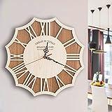Kreative Wohnzimmer stummen Kunst der Retro Mode Persönlichkeit moderne Holz-Wanduhr ( größe : 16 Inches )